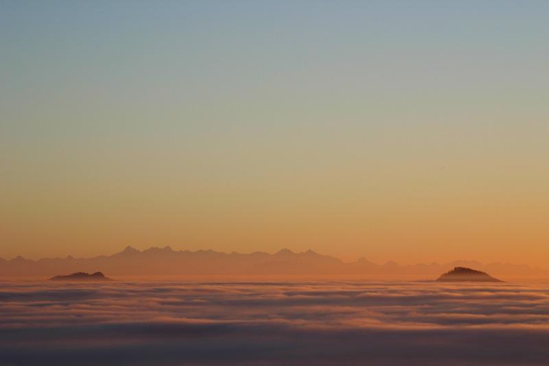 sonnenuntergang mit nebel und - photo #43