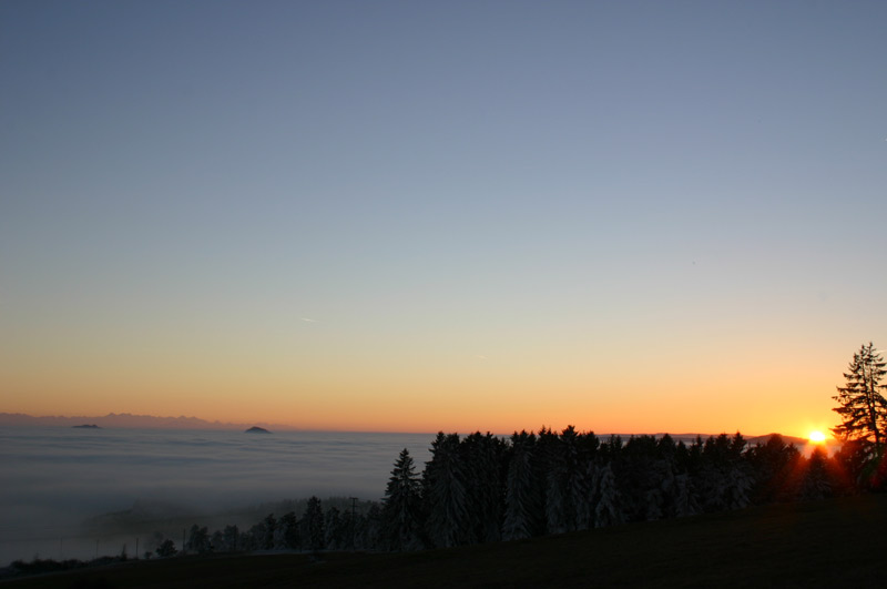 sonnenuntergang mit nebel und - photo #6